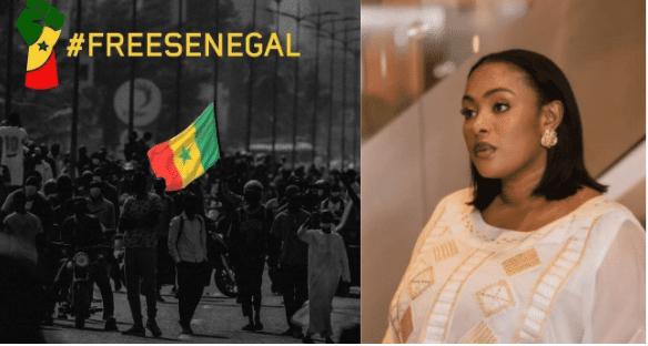 Keisha de la série Adjia réagit sur les manifestations contre la détention de Ousmane Sonko: « Le Sénégal va rester libre et nous y veillerons »